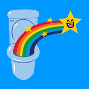 Cute Toilet Rainbow
